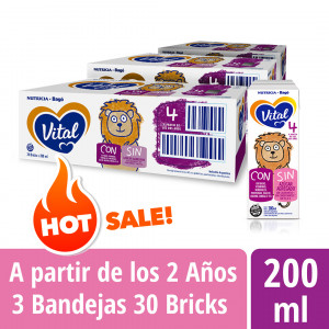 Pack Vital 4 - Brick 200 ml