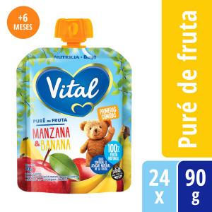 Vital Primeras Comidas Manzana y Banana
